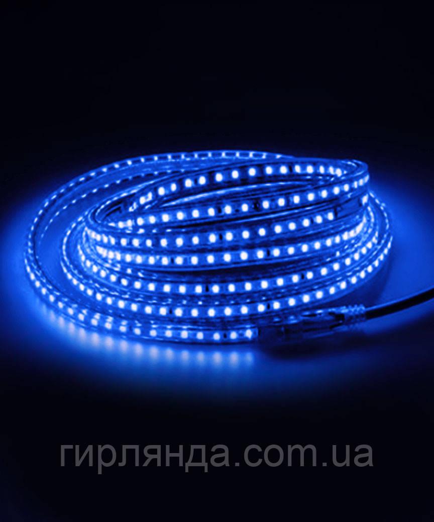 Вулична LED стрічка 5050, 8м, синя