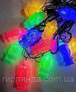 """МРАМОР  12 LED, """"ЛІХТАРИК"""",  5м+ перехідник,  мульті"""