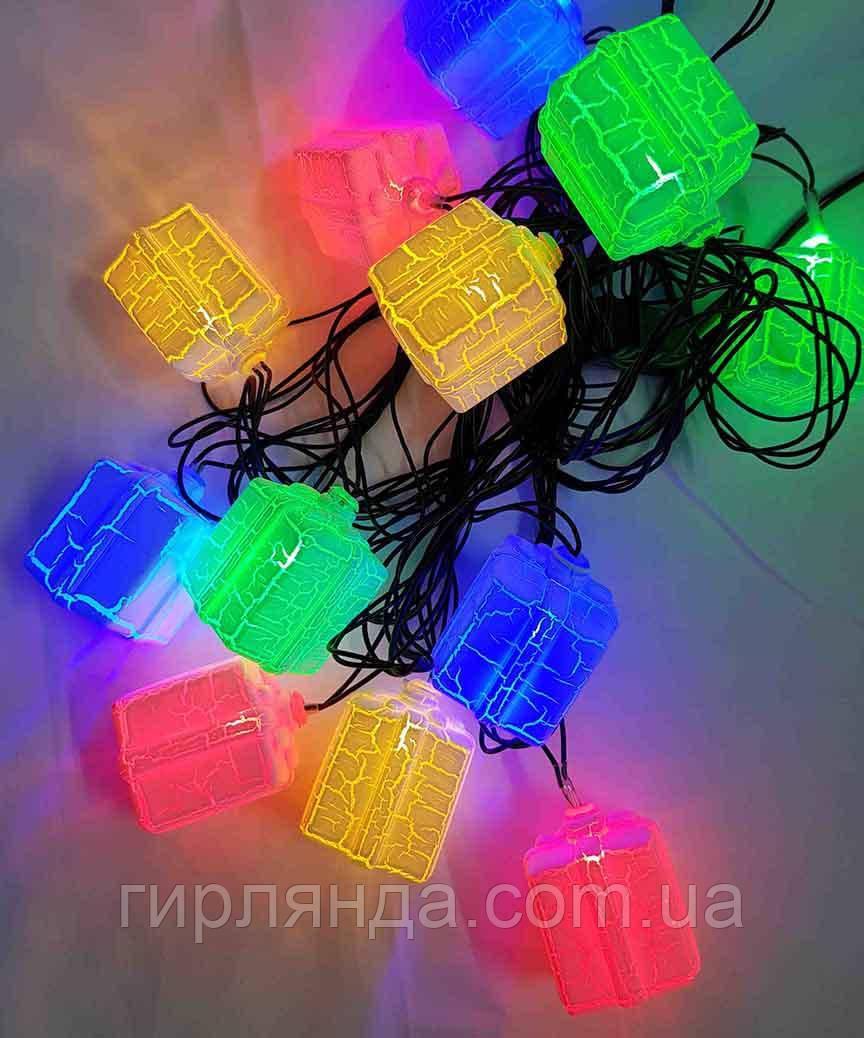 """МАРМУР 12 LED, """"ПОДАРУНОК"""", 5м+ перехідник, мульті"""