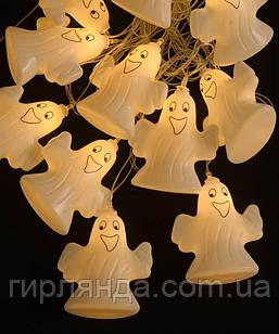 """Фігурки 12 LED, """"ХЕЛОУІН-ПРИВИД"""", 5м+ перехідник, теплий білий"""