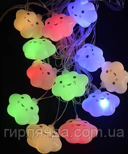 """Фігурки 12 LED, """"ХМАРИНКА"""", 5м+ перехідник, теплий білий"""