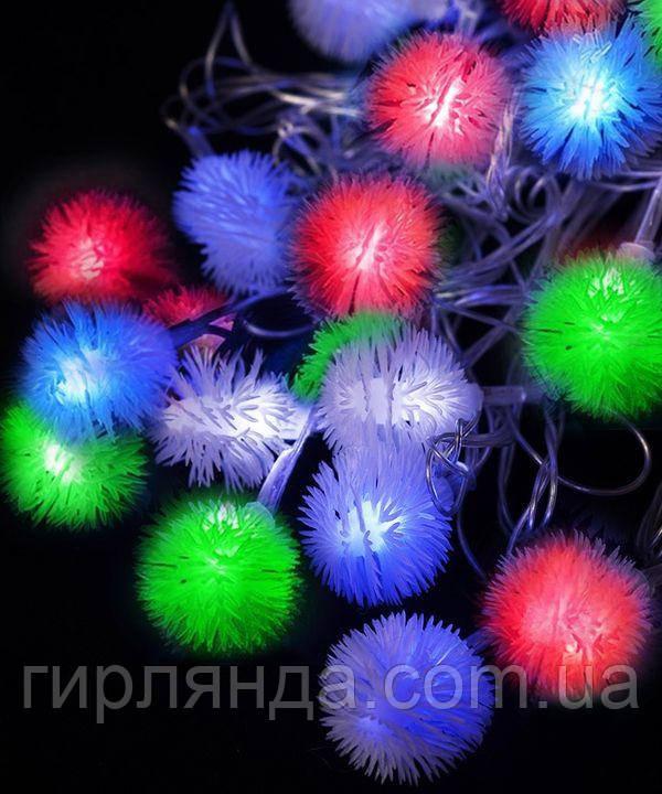 """Фігурки  20 LED, """"ПУХНАСТИК"""", 5м+ перехідник, мульті"""