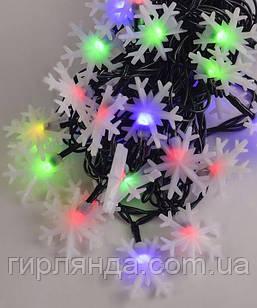 """Вуличні фігурки 40 LED """"СНІЖИНКА"""", 7м+ перехідник, мульті"""