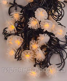 """Вуличні фігурки LED 40 """"ШИШКА"""", 7м+ перехідник, білий теплий"""