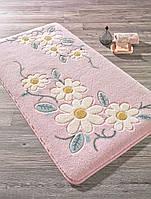 Коврик для ванной 80х140 Confetti Margherita розовый с цветами