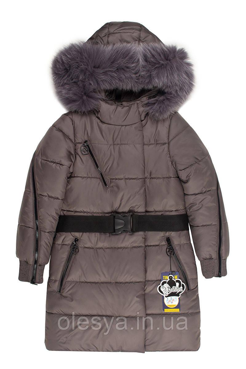 Зимнее подростковое пальто на девочку Бамбина Размеры 134-152