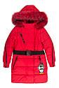 Зимнее подростковое пальто на девочку Бамбина с натуральным мехом Размеры 134- 152, фото 5