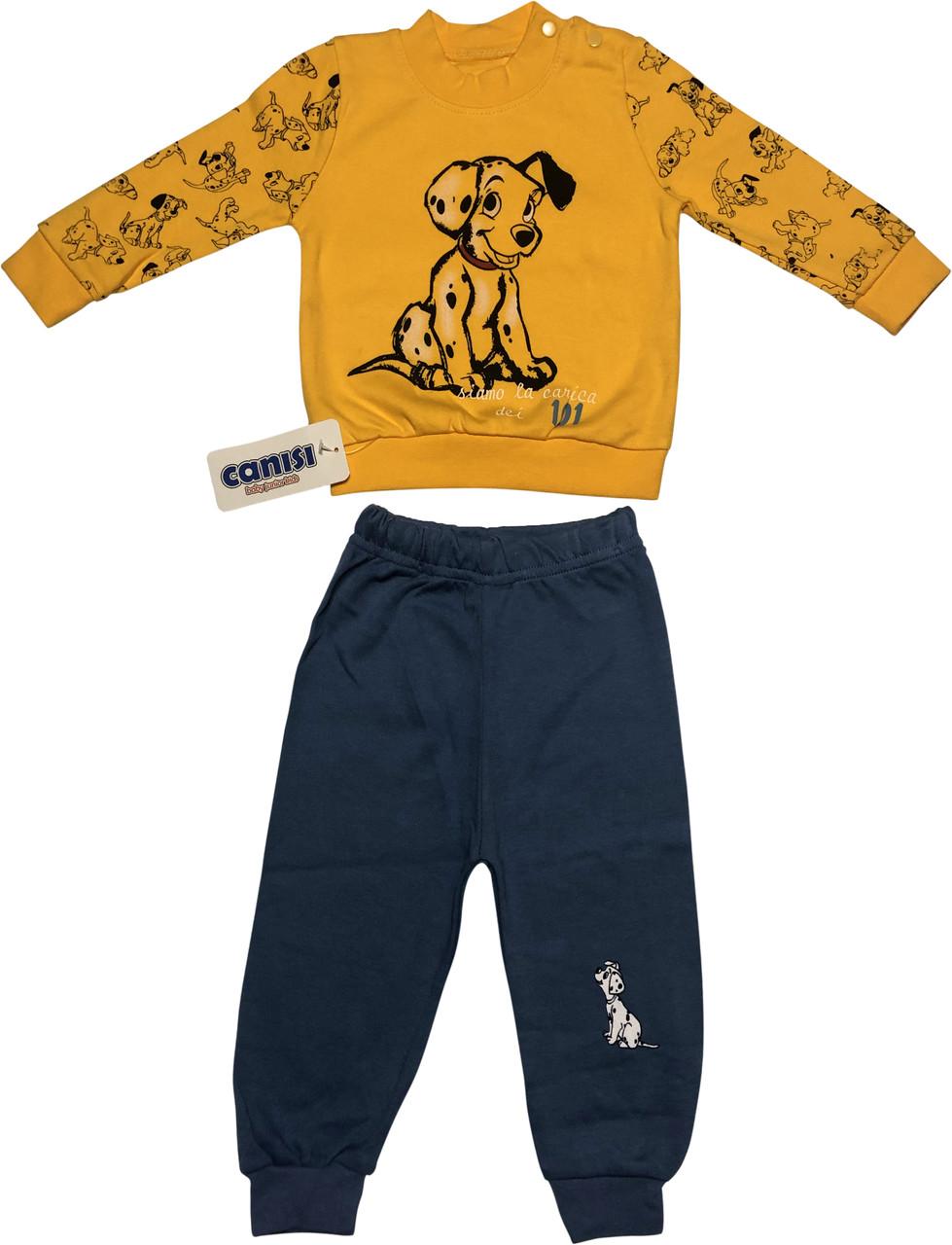 Детский костюм рост 68 3-6 мес трикотажный оранжевый костюмчик на мальчика комплект для новорожденных малышей ТН152