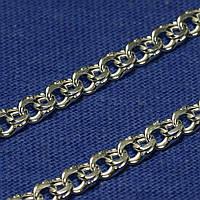 Серебряный браслет плетение Бисмарк плоский