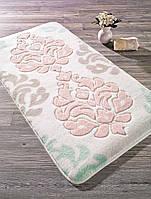 Коврик для ванной 57х100 Confetti Damask кремовый/розовый
