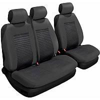 Авточехлы универсальные Beltex Comfort 2+1 Тип А черные со вставкой без подголовников 53210