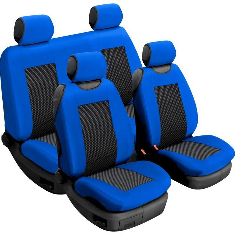 Авточехлы универсальные Beltex Comfort комплект синий без подголовников 52410
