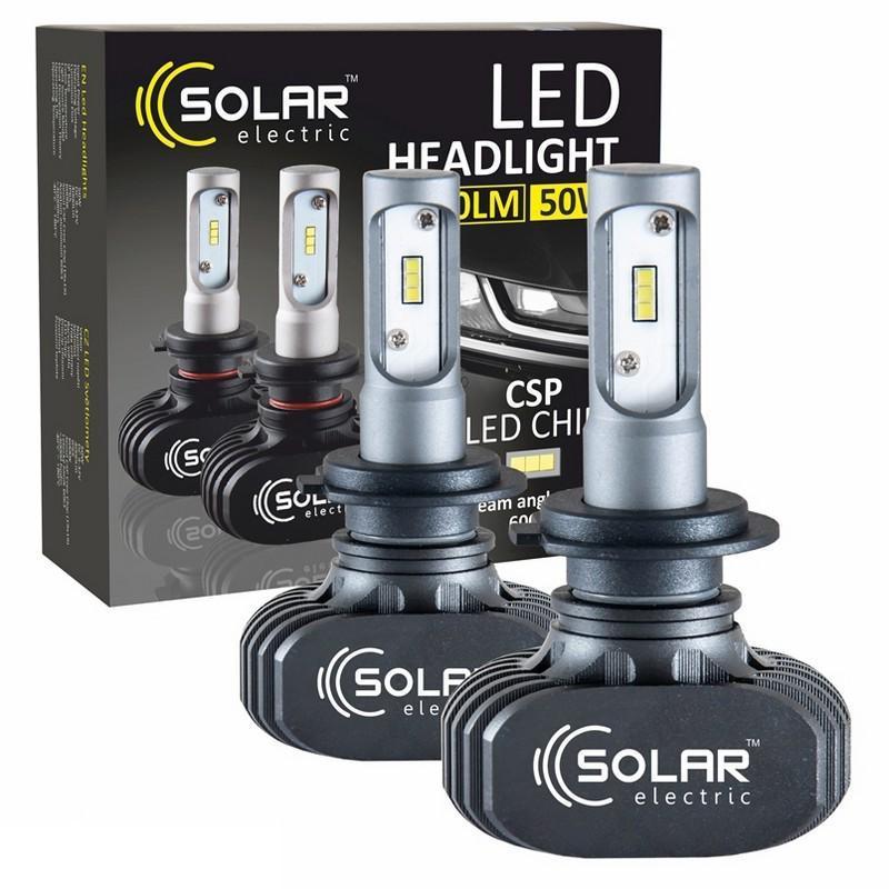 Светодиодные лампы SOLAR H7 12/24V 6000K 4000Lm 50W Seoul CSP (8107)