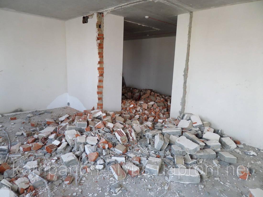 Демонтаж проема Сломать стену Прорезать проем