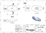 Умывальник MIRAGGIO LEX R глянцевый с литого мрамора, фото 4