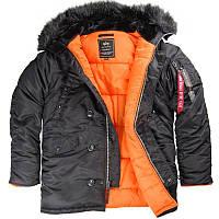 Парку Alpha Industries Slim Fit N-3B 5XL Black Orange Alpha-00002-5XL, КОД: 717889