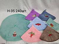 Рушник серветка круглі кухонне мікрофібра для кухні розмір 25*25 см (від 12 шт)