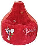 Бескаркасное Кресло-мешок груша пуф  мягкий для детей Фея, фото 5