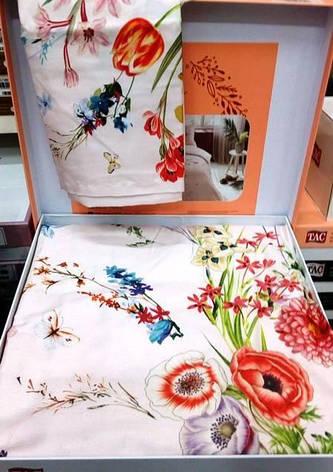 Постельное белье TAC saten Martha двуспальный - евро, фото 2