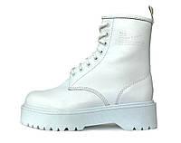 Женские демисезонные ботинки Dr. Martens Jadon (Premium-class) белые