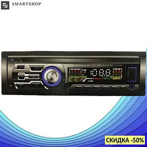 Автомагнитола AUX 1DIN MP3 1584 с 2-мя выходами - бюджетная однодиновая магнитола с USB, SD, FM и AUX (s495)