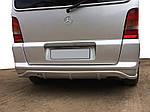 Mercedes Vito W638 1996-2003 рр. Накладка на задній бампер (під фарбування)