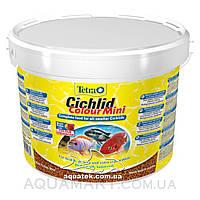 Корм Tetra Cichlid Colour Mini 10 литров, 3900 грамм