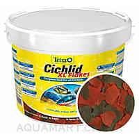 Корм Tetra Cichlid XL Flakes 10 л, 1900 грамм