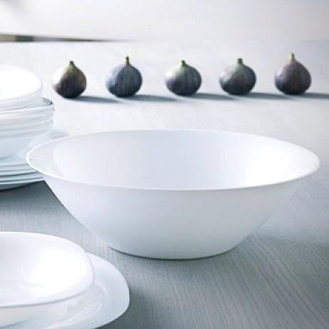 Большой белый салатник Luminarc Carine white 27 см (D2370)