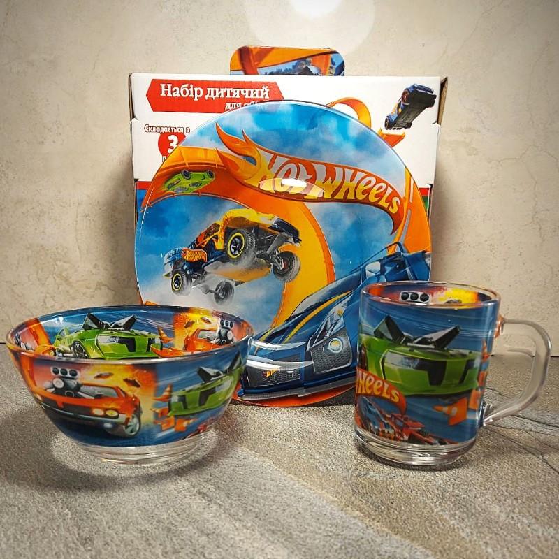 Набор детской посуды 3 предмета Хот Вилс (A9551)