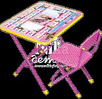 Комплект детской мебели стол с пеналом и стул с мягким сиденьем