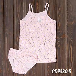 Комплект детский для девочек: майка + трусики Hunex (Турция) CO4320-5 | 3 шт.