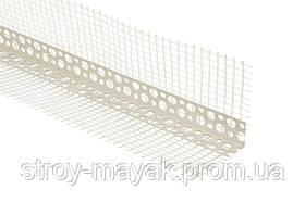 Контрашульц уголок перфорированный пластиковый с сеткой 3 м