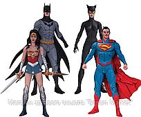 Набор фигурок Лига Справедливости: Бэтмен Супермен Чудо-Женщина Женщина-Кошка - Justice League Jae Lee DC