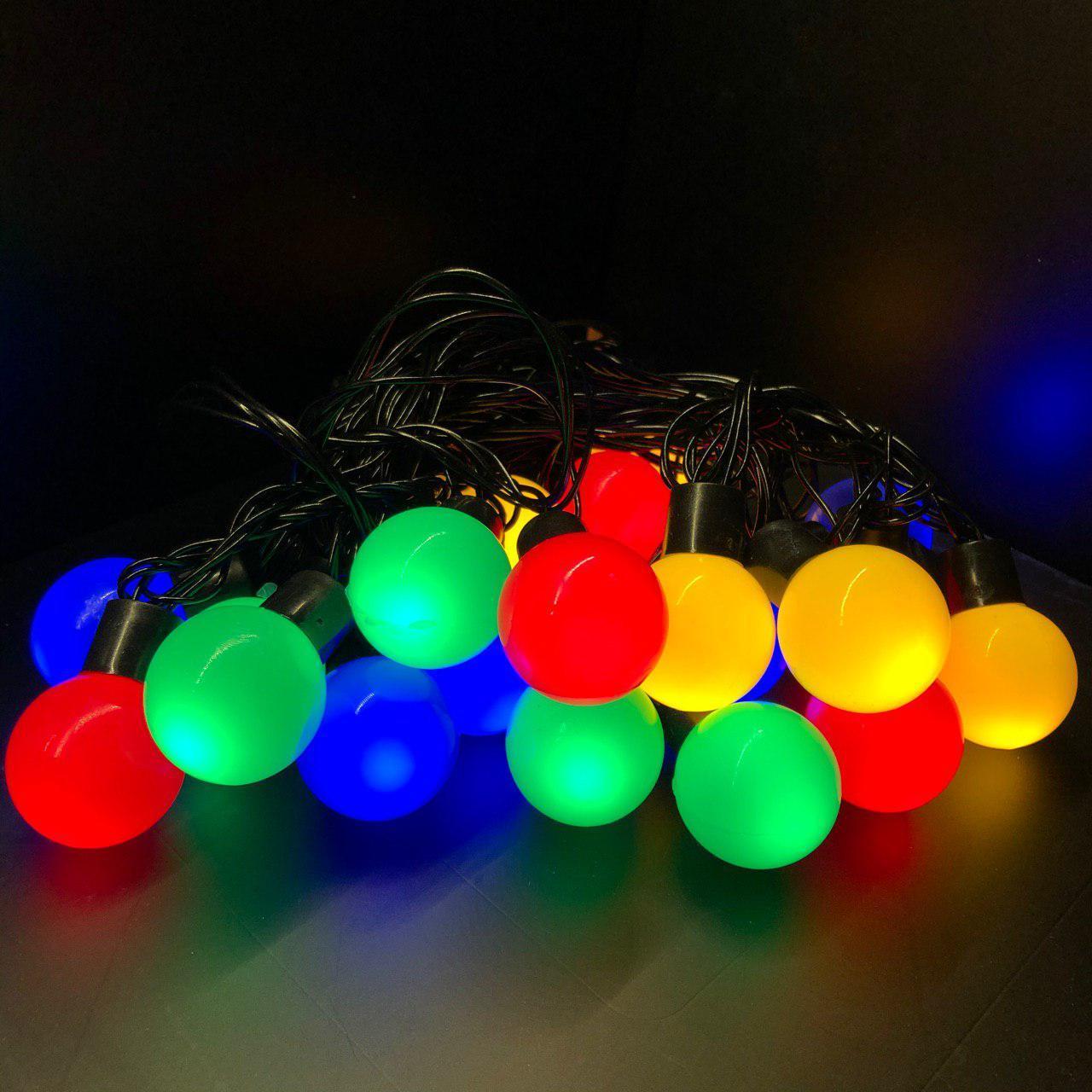 Цветные шарики Alphatrade d 3 см, 5 метров, 20 LED