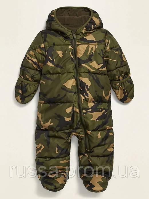 Детский зимний комбинезон Quilted Water-Resistant Snowsuit Олд Неви для мальчика