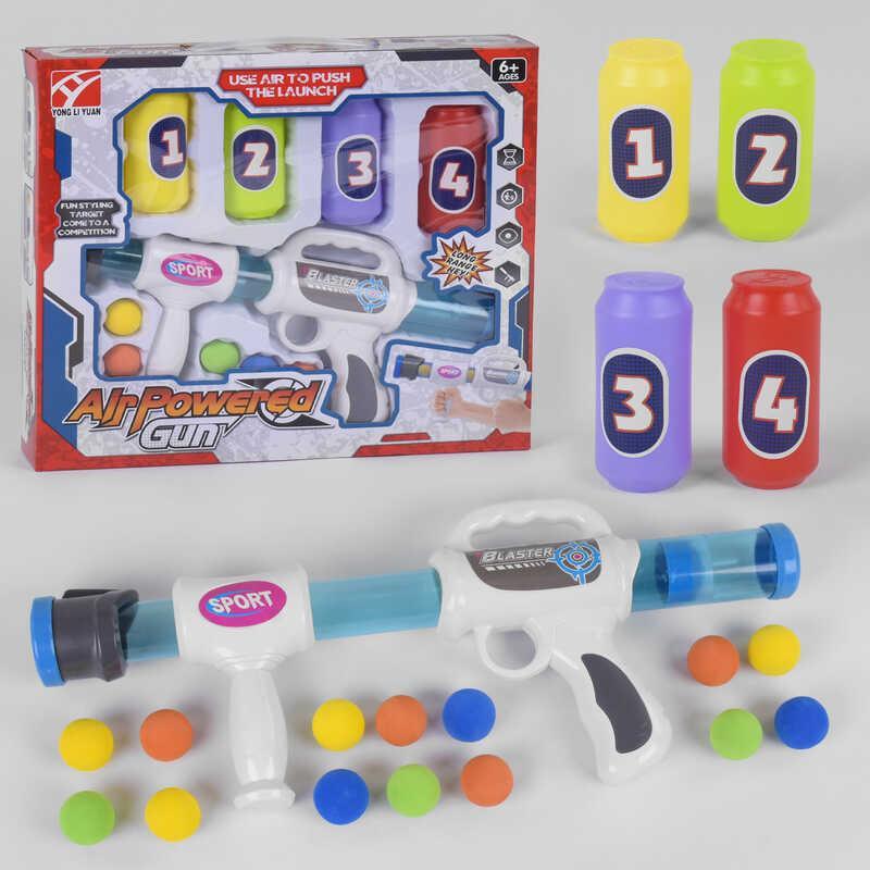 Автомат помповый 5003 (48/2) 14 мягких шариков, в коробке