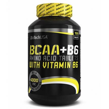 BCAA + B6 BioTech USA 100 tabs, фото 2