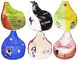 Бескаркасное Кресло-мешок груша пуф детский мягкий, фото 6
