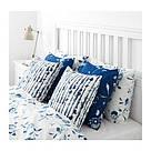 ИКЕА (IKEA) STRIMSPORRE, 204.326.54, Чехол на подушку, белый, синий, 50x50 см - ТОП ПРОДАЖ, фото 3