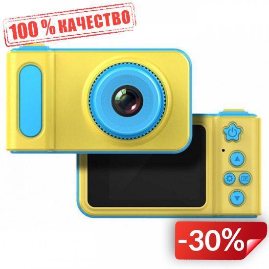Детский фотоаппарат Smart Kids Camera V7 Желтый с голубым (119)