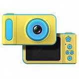 Детский фотоаппарат Smart Kids Camera V7 Желтый с голубым (119), фото 2