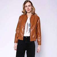 Куртка-бомбер женская из искусственной кожи Delight Berni Fashion (M)