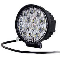 Фары LED Лидер ближний свет 42W 27-42W/9-32V/14LED d60мм Flood