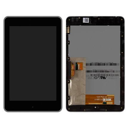 Дисплей (екран) для Asus ME370 Google Nexus 7 (2012) версія Wi-Fi з сенсором (тачскрін) і рамкою чорний, фото 2