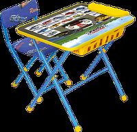 Комплект детской мебели стол с большим пеналом и стул с мягким сиденьем