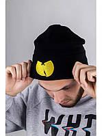Шапка  Wu-Tang CLAN черная с желтым логотипом
