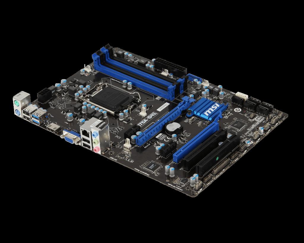 "Материнская плата MSI B75A-G41 DDR3  Socket 1155 ""Over-Stock"" Б/У"