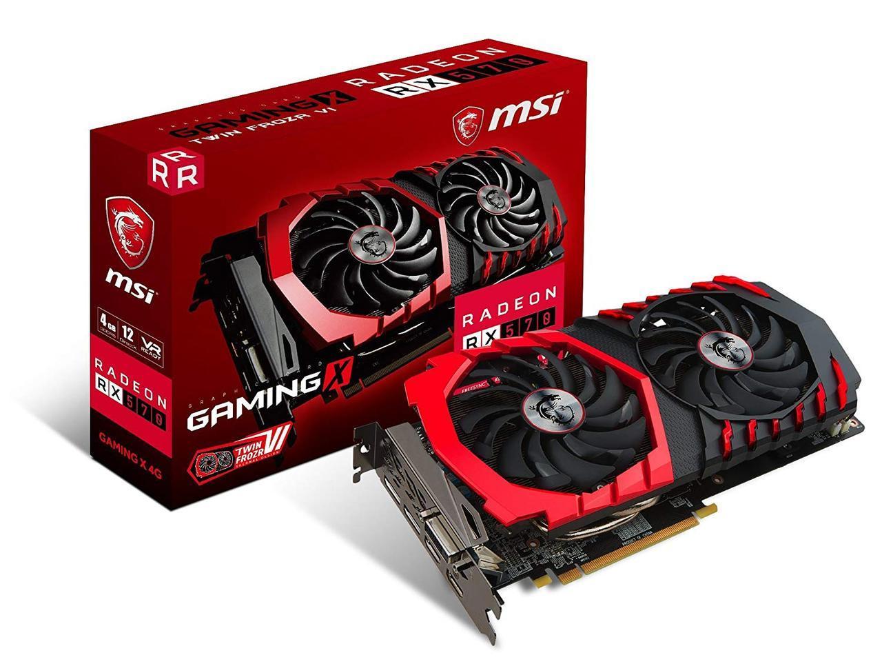Видеокарта MSI Radeon RX 570 GAMING X 4G Б/У