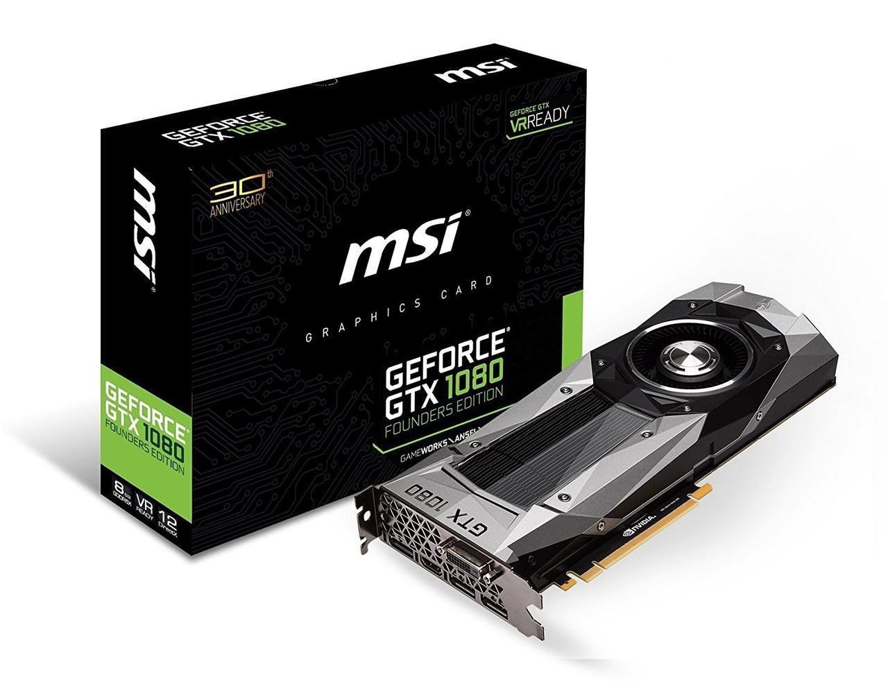 """Видеокарта MSI GTX1080 8GB Founders Edition """"Over-Stock"""" Б/У"""